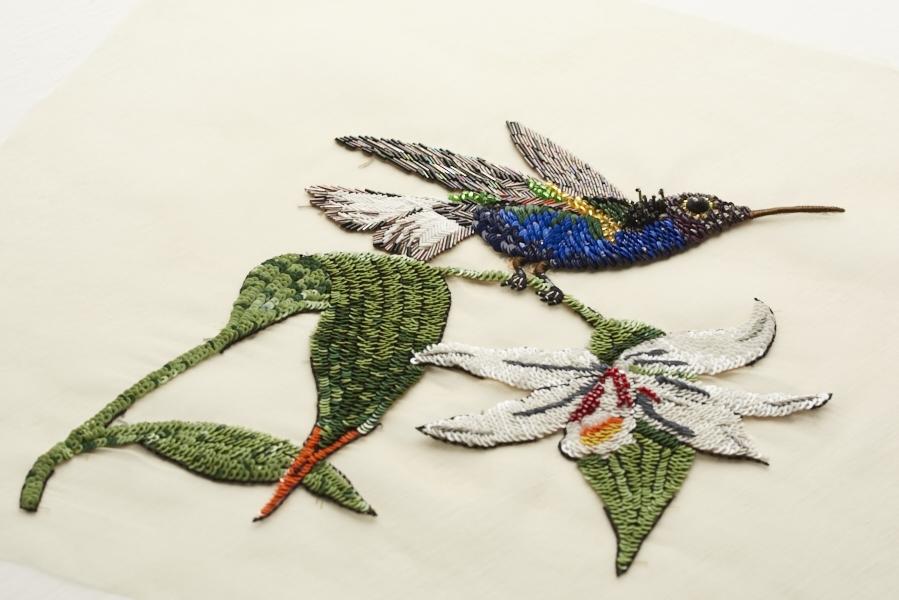 Dream Blueprints Design Studio , Hand Embroidery Atelier, sequin, swarovski bird